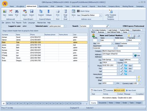 screenshot crm express free crm software crm