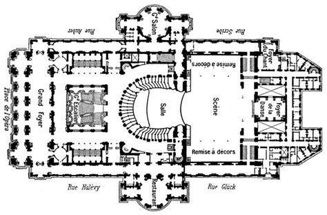 opera house floor plan blueprint of the palais garnier the phantom of the opera
