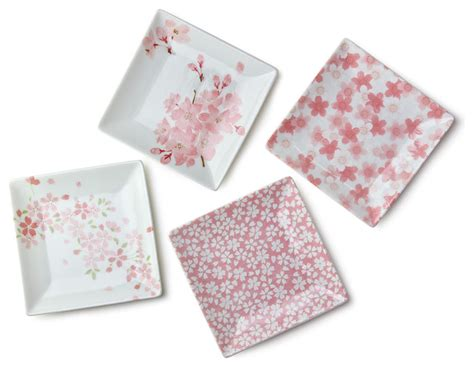 Dining Room Plate Sets by Sakura 3 75 Quot Square Plate Set Asian Dinner Plates By
