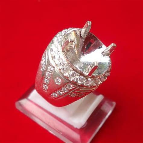 Dijamin Senter Batu Cincin Model Pulpen Silver model cincin perak kode 108 keris semar mesem