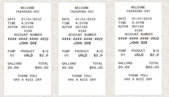 gas receipt template sle parking receipt studio design gallery best