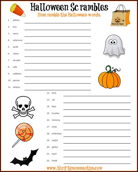 free printable halloween word games for adults halloween activity sheet