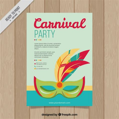 carnival party flyer carnival party flyer vector free download