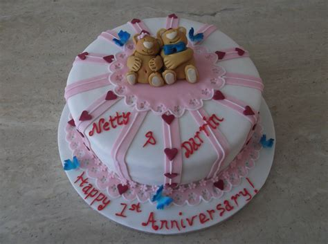 1st Wedding Anniversary Cake   Laila Make My Cake