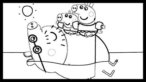peppa pig dibujos para colorear peppa pig en los personajes de dibujo para colorear playa
