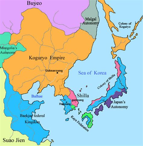 silla kingdom map baekje included parts of eastern china territory in the