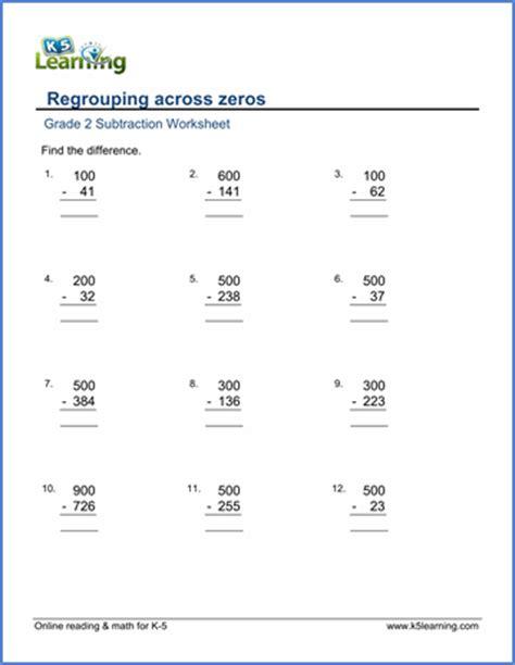 Subtracting Across Zeros Worksheet by Subtraction Across Zeros Worksheet Free Worksheets Library