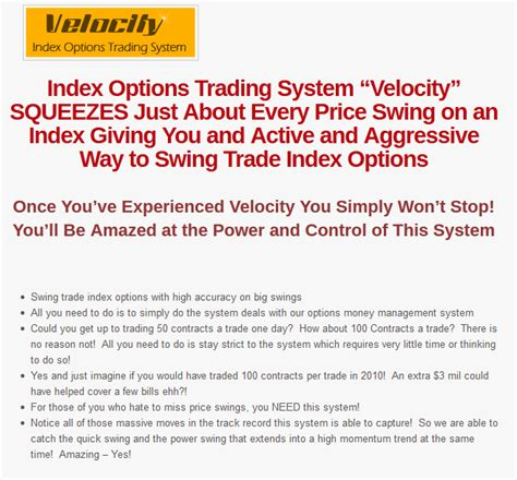 swing trading success stories velocity index options swing trading system
