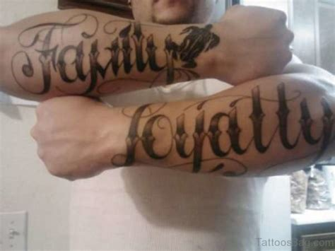 tattoo family loyalty 20 best family wording tattoo on arm