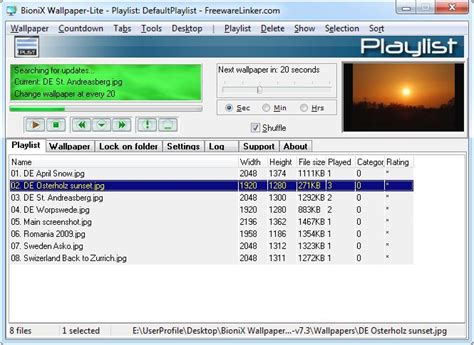 bionix wallpaper changer   freewarelinkercom