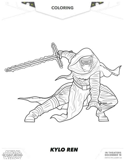 printable coloring pages of kylo ren freecoloring4u com star wars the force awakens kylo ren coloring page star