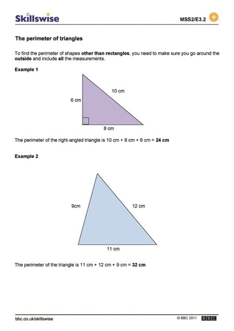how to calculate perimeter how to find the area and perimeter of a square triangle review ebooks
