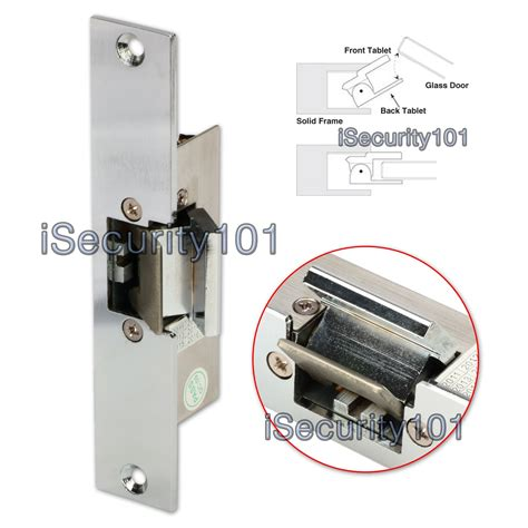 electric door isecurity101 electric strike lock dc 12v fail safe nc mode for glass door access