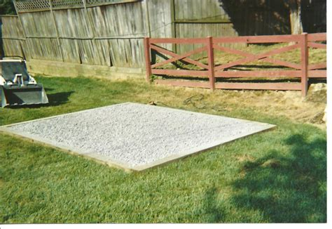 Shed Base Preparation amish built garages garden sheds gazebos playsets small barns in lancaster pa