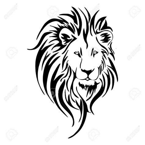 roaring lion tribal tattoo royalty free cliparts vectors and stock
