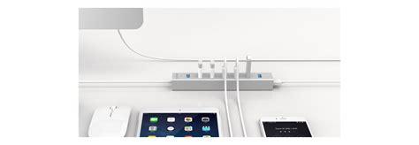 Orico Aluminum 4 Port Usb 30 Ultra Mini Hub With 33ft Usb 30 Cable orico h7013 u3 sv alumium 7 ports usb3 0 hub