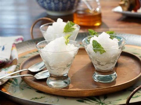 Delightful Water Ices Sorbet And Granita lemon basil granita recipe food network