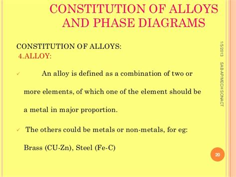 constitution of alloys and phase diagrams q3e