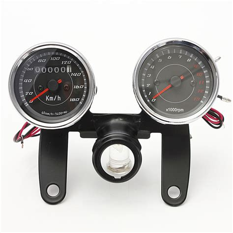 Spd Speedometer Custom Led universal led motorcycle tachometer odometer speedometer alex nld
