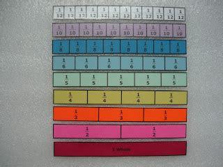 fraction strips  bars simple diy classroom freebies