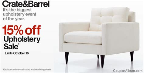 Crate Barrel Upholstery Sale 15 Off Furniture