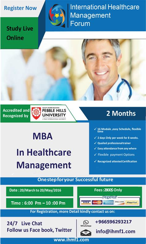 How To Get Mba Healthcare Management by News Events