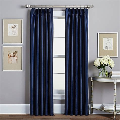 pinch pleat drapes bed bath and beyond spellbound pinch pleat rod pocket lined window curtain panel bed bath beyond