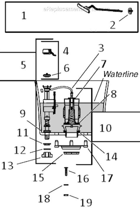 kohler toilet diagram kohler k 3998 t parts list and diagram ereplacementparts