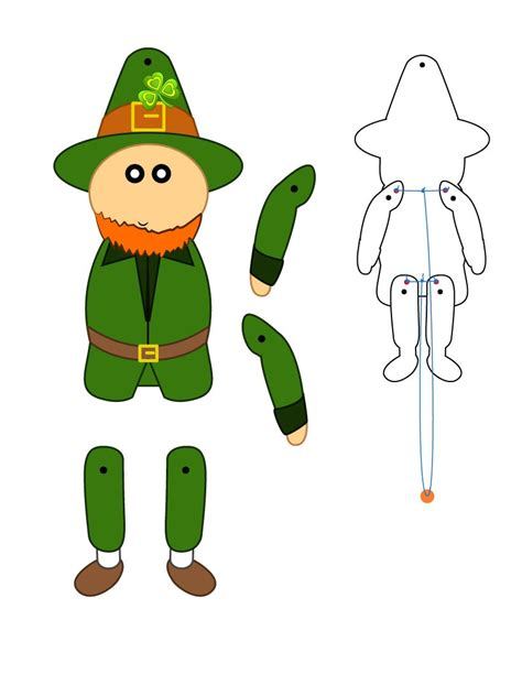 Paper Puppets - st s day crafts leprechaun paper puppet