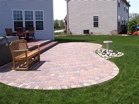 Paver Patio Maintenance Paver Patio And Low Maintenance Deck Custom Designed And Built By Archadeck Of Chicagoland