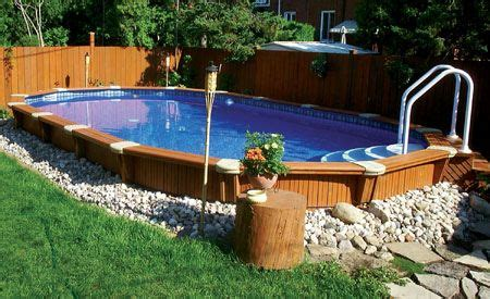 25 best ideas about semi inground pools on