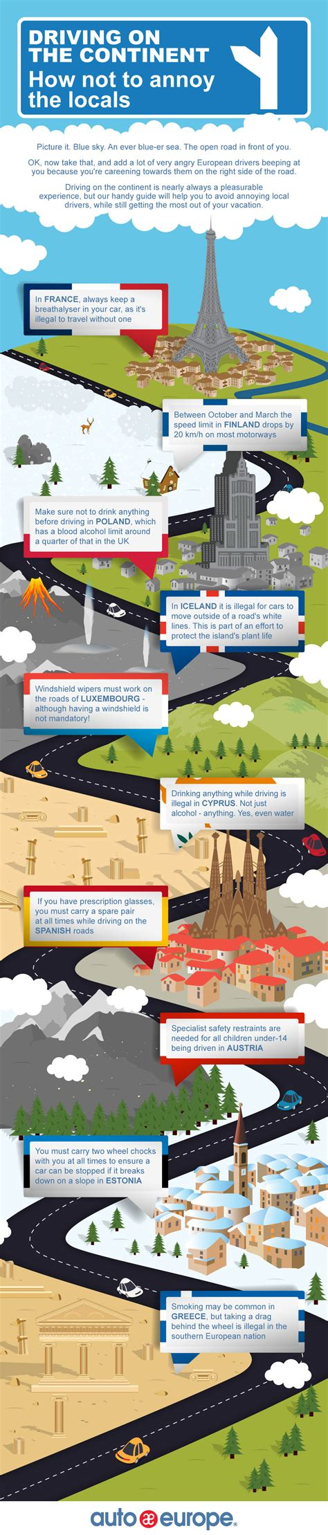 Car Hire Infographic: Driving on the Continent   Auto Europe