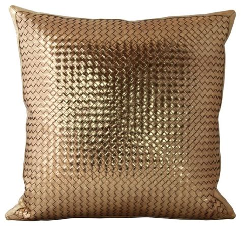 Decorative Pillows - woven leather throw pillows contemporary decorative