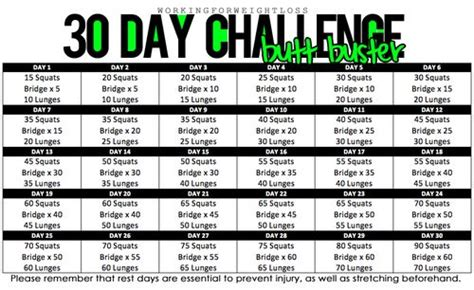 30 day workout plan for women at home 30 day butt challenge fitness inspiration pinterest