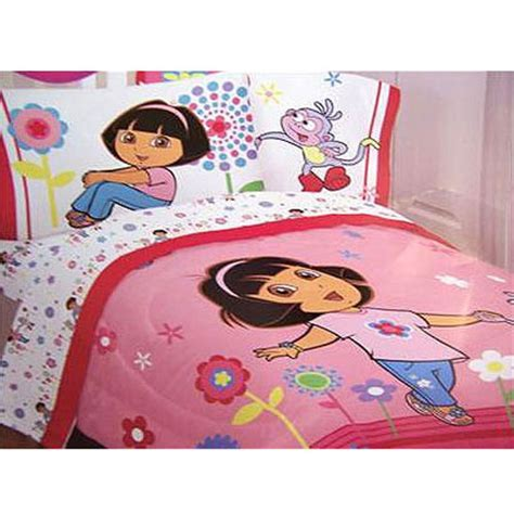 dora bedroom set dora the explorer flower patch full size comforter free