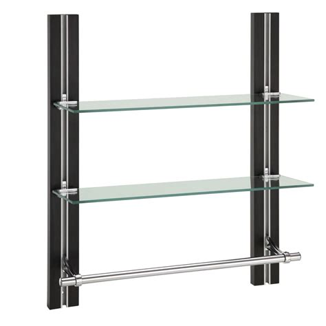 bathroom shelf with towel rack bathroom glass shelf organizer with towel holder 2 tire