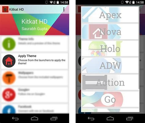 install themes on nova launcher android 4 4 kitkat get the look on your smartphone