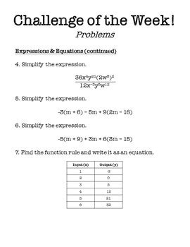 challenging math problem 8th grade math challenge of the week problems by middle