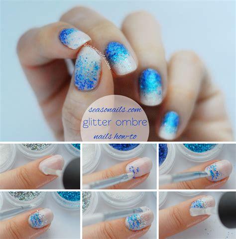 tutorial nail art glitter party nails full glitter ombre nail art seasonails