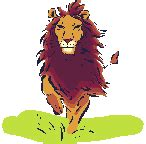 Running lion animated gif 856 animate it