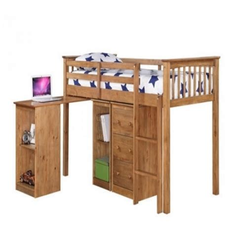 pine bunk bed with desk milo pine bunk bed with sleep station desk