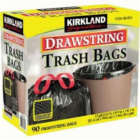 Kirkland Kitchen Bags by Kirkland Signature Drawstring Garbage Bags 90pk