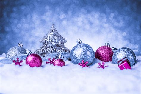 blue christmas background with pink ornaments gallery