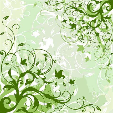 wallpaper lime green flowers 緑の植物が優雅に伸びた背景 green floral background イラスト素材 ai eps イラストレーター