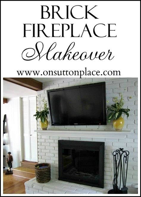 painted brick fireplace makeover how painted brick fireplace makeover on sutton place