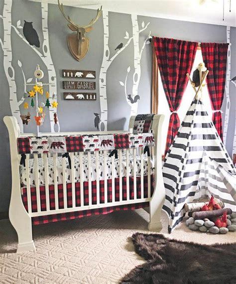 baby boy crib bedding set lumberjack baby bedding