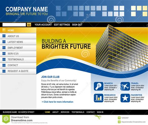 Business Technology Website Template Royalty Free Stock Photography Image 12352587 Copyright Free Website Templates
