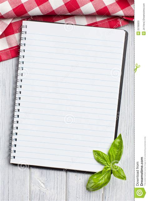 blank recipe book stock photos image 25786833