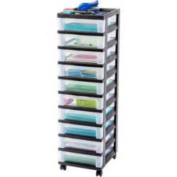 iris 10 drawer rolling storage cart black walmart