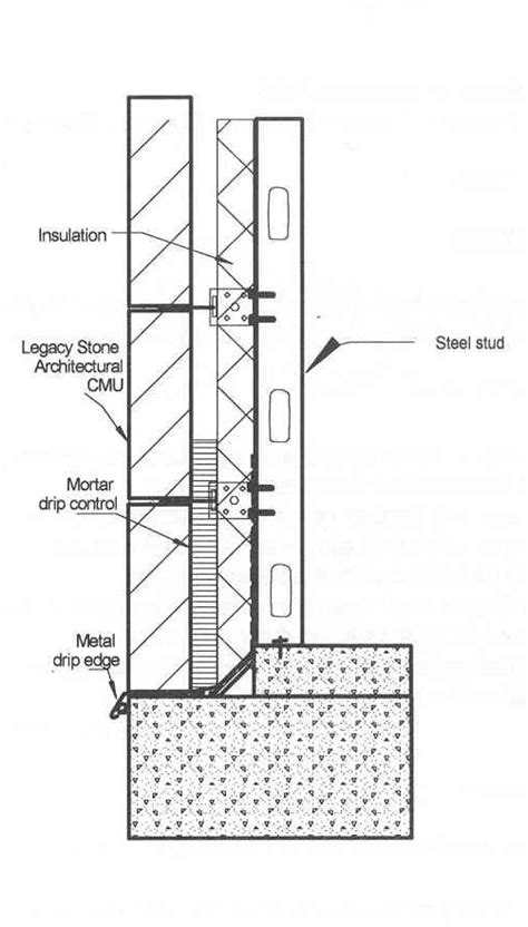 steel stud section drawing technical drawings